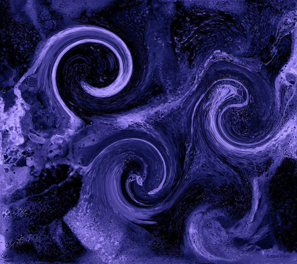 Digital Art - The Wave Of Truth Purple by Lesa Fine