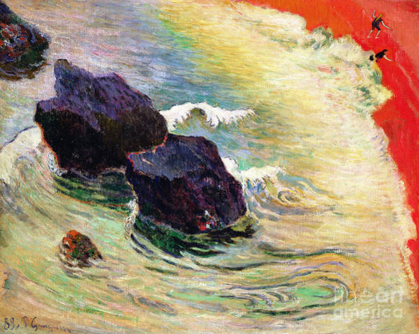 Gauguin Painting - The Wave by Paul Gauguin