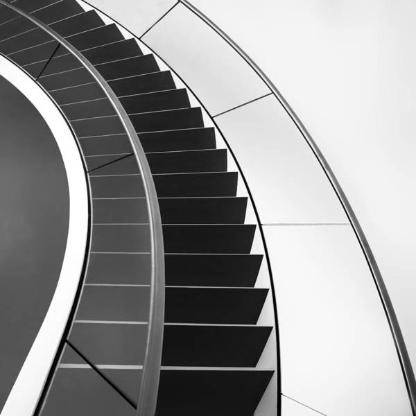 Lines Photograph - The Way Up And Down by Gerard Jonkman