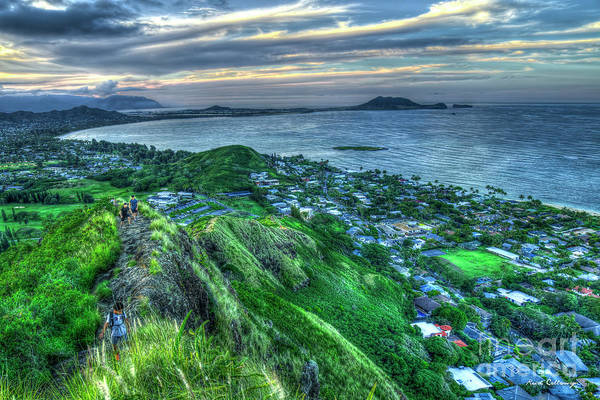 Photograph - The Way Up Kailua Lanikai Pillboxes Hike Hawaii Collection Art by Reid Callaway