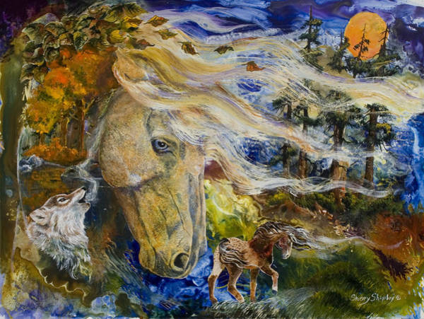 Painting - The Wayward Wind by Sherry Shipley