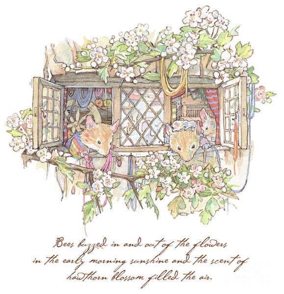 Wall Art - Drawing - The Weavers by Brambly Hedge