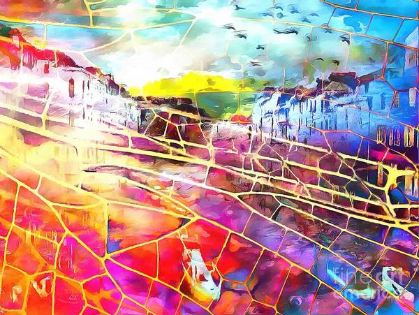 Painting - The Web In Italian by Catherine Lott