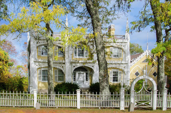 Wedding Cake Photograph - The Wedding Cake House - Kennebunk Maine by Bill Cannon