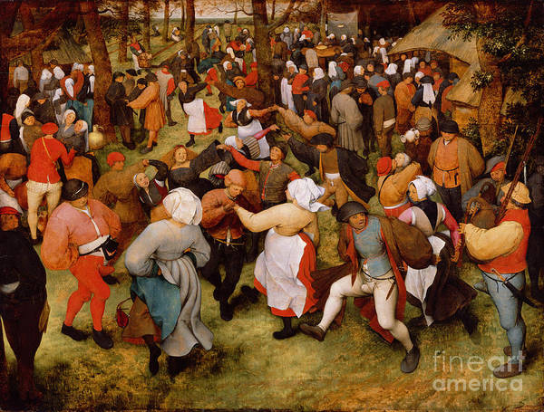 Apron Wall Art - Painting - The Wedding Dance by Pieter the Elder Bruegel