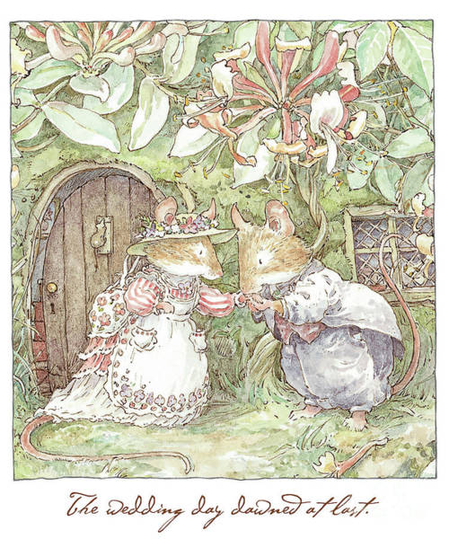 Wall Art - Drawing - The Wedding Day Dawned At Last by Brambly Hedge