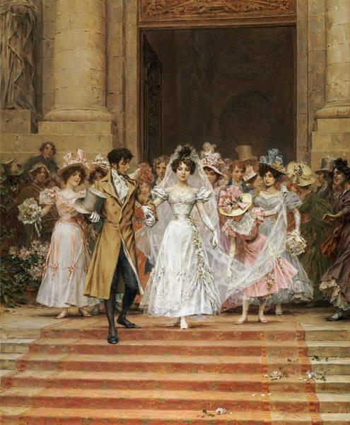 Engage Wall Art - Painting - The Wedding by Frederik Hendrik Kaemmerer