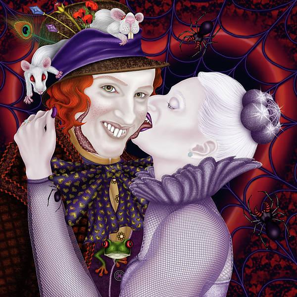 Grotesque Digital Art - The Wedding Present by Maryska Torresowa