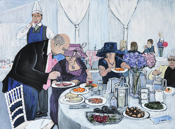 In Service Painting - The Wedding by Reb Frost