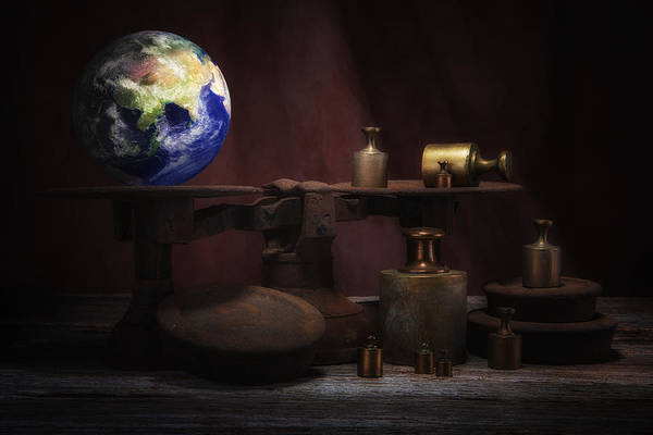 Weights Wall Art - Photograph - The Weight Of The World by Tom Mc Nemar
