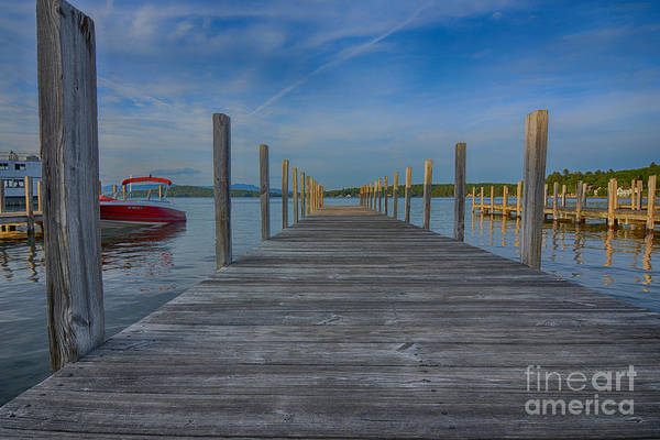 Ossipee Wall Art - Photograph - The Weirs Docks by Mim White