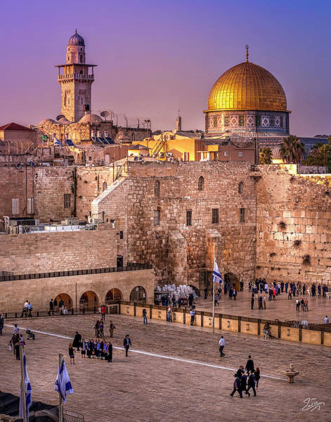Photograph - The Western Wall At Sunset by Endre Balogh