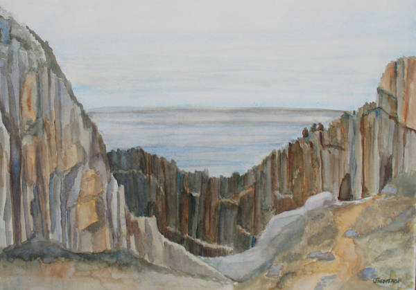 Wall Art - Painting - The Whale Watchers At Elephant Rock by Jenny Armitage