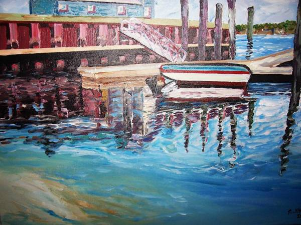 Painting - The Wharf by Ray Khalife
