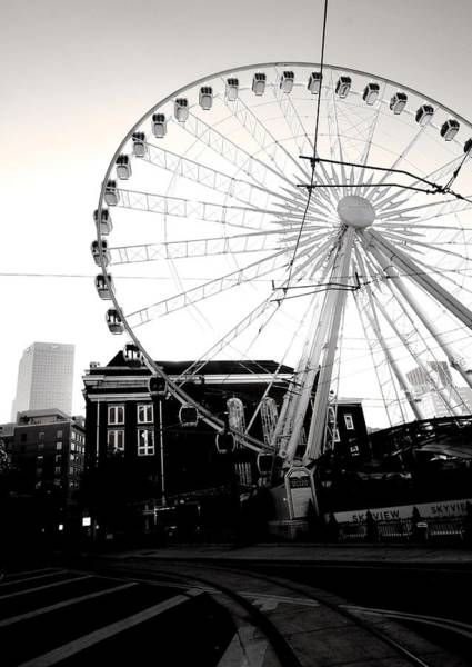 The Wheel Black And White Art Print