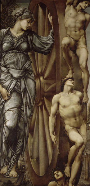 Wall Art - Painting - The Wheel Of Fortune by Sir Edward Coley Burne-Jones