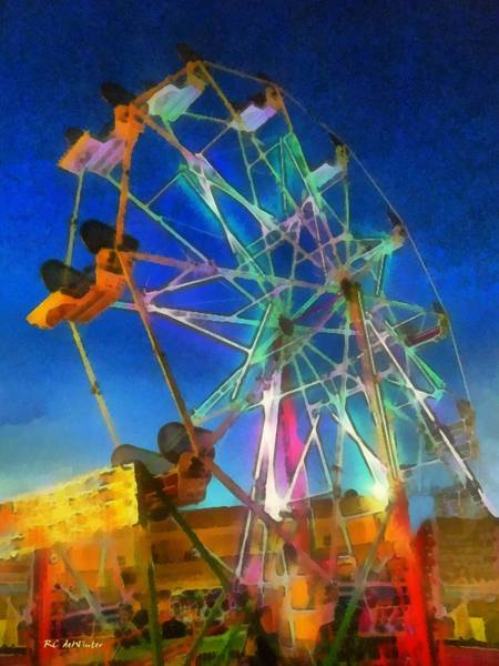 Painting - The Wheel by RC DeWinter