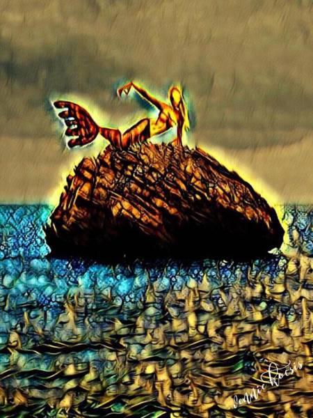Digital Art - The Whisperer by Vennie Kocsis