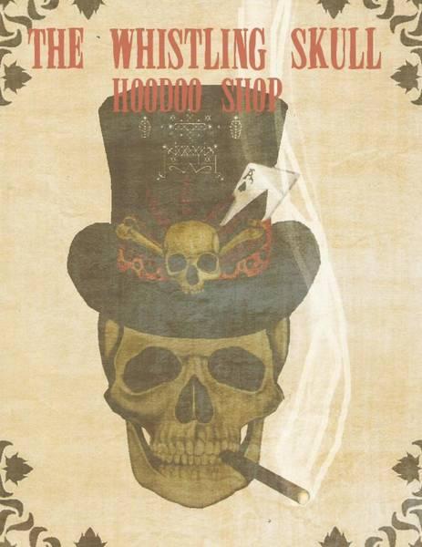 Delta Mixed Media - The Whistling Skull by Jeff Martinez