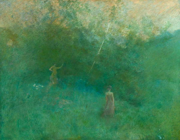 Wall Art - Painting - The White Birch by Thomas Wilmer Dewing