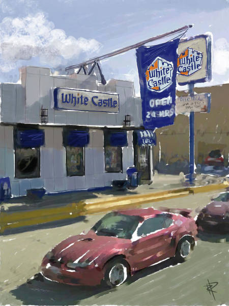 White Cloud Mixed Media - The White Castle by Russell Pierce