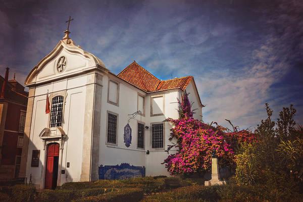 The White Church Of Santa Luzia Art Print