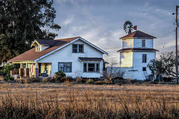 Photograph - The White Farm House by Gene Parks
