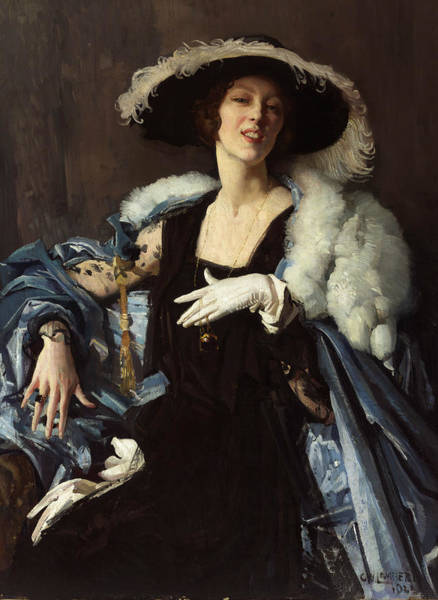 Painting - The White Glove by George Washington Lambert