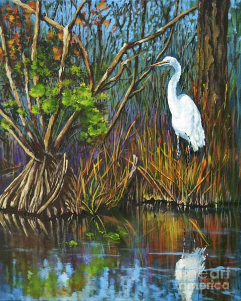 Wall Art - Painting - The White Heron by Dianne Parks