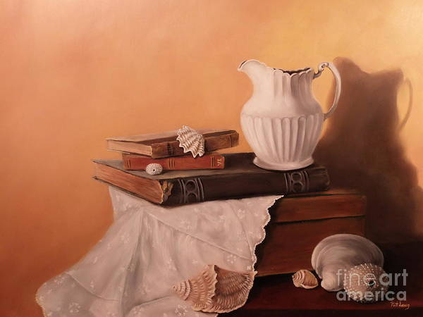 Wall Art - Painting - The White Pitcher by Patricia Lang