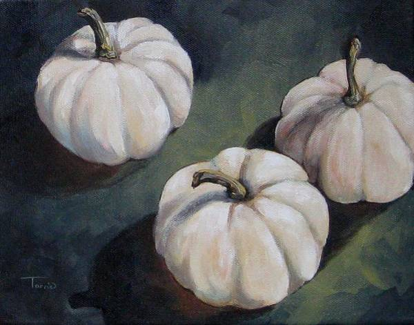 The White Pumpkins Art Print