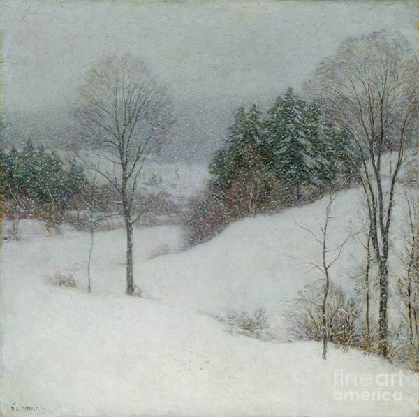 Impressionist Photograph - The White Veil by Willard Leroy Metcalf
