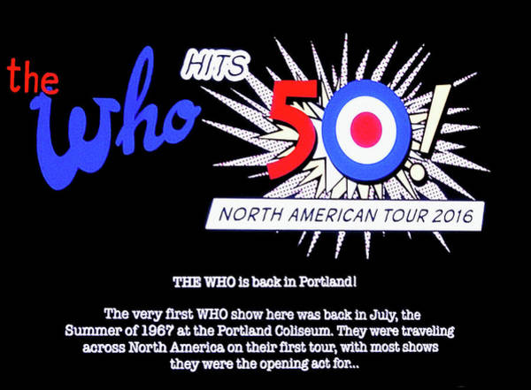 Photograph - The Who Hits 50 Tour 2016 by Tanya Filichkin