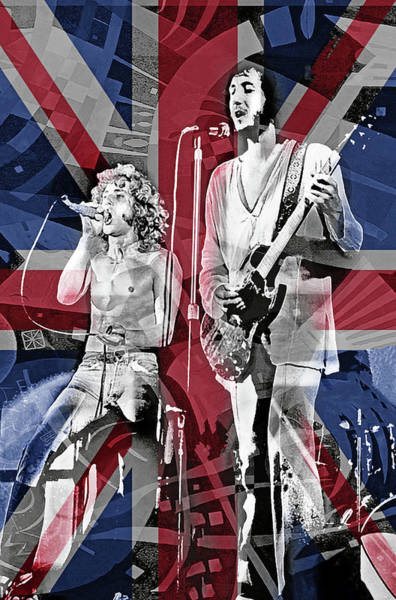 Wall Art - Mixed Media - The Who by Mal Bray