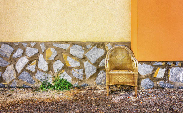 Photograph - The Wicker Chair. by Gary Gillette