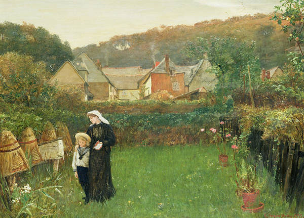 Mourning Painting - The Widow by Charles Napier Hemy