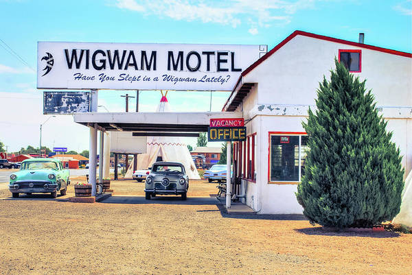 Mother Road Wall Art - Photograph - The Wigwam Motel - Historic Route 66 - Holbrook Arizona by Gregory Ballos