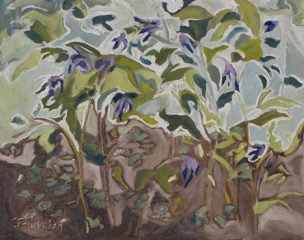 Wall Art - Painting - The Wild Columbines by Francois Fournier
