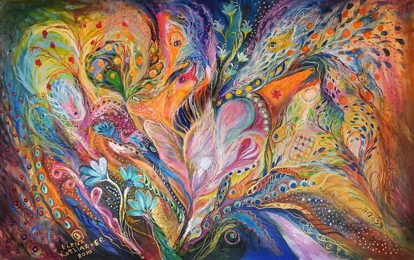Wall Art - Painting - The Wild Iris by Elena Kotliarker