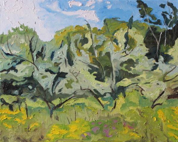 Wall Art - Painting - The Wild Orchard by Francois Fournier