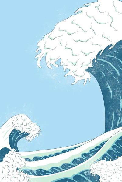 Digital Art - The Wild Sea by Clayton Bastiani
