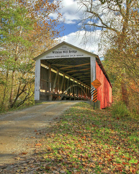 Photograph - The Wilkins Mill Covered Bridge by Harold Rau