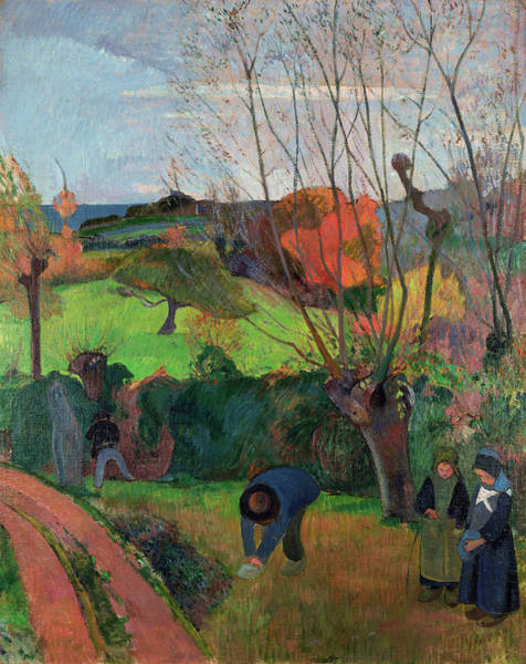 Wall Art - Painting - The Willow Tree by Paul Gauguin