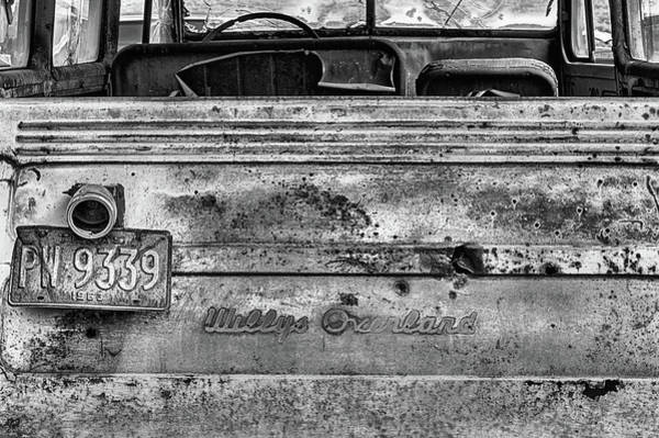 Photograph - The Willys Jeep Overland In Black And White by JC Findley