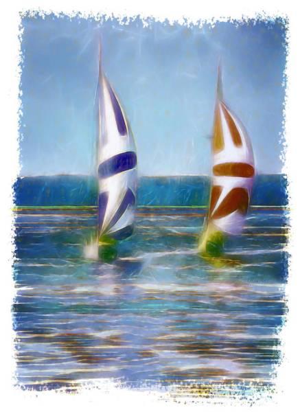 Digital Art - The Wind In Your Sails by OLena Art - Lena Owens
