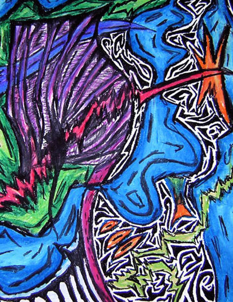 Oil Pastels Drawing - The Wind by Jera Sky