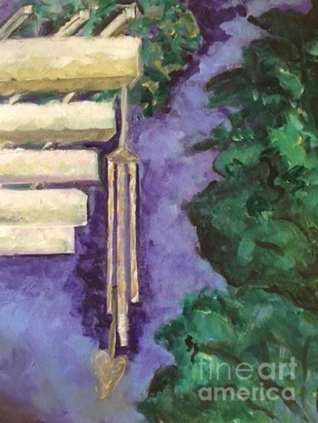 Wind Chime Painting - The Wind by Judy Lange