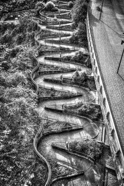 Photograph - The Winding Way B W Chattanooga Tennessee Art by Reid Callaway