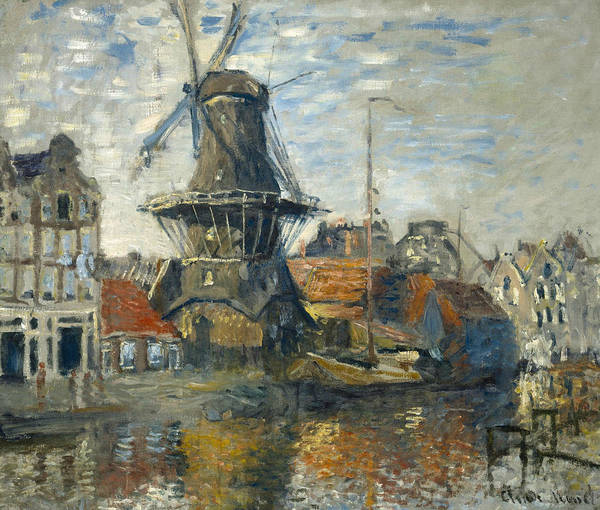 Painting - The Windmill On The Onbekende Gracht, Amsterdam by Claude Monet