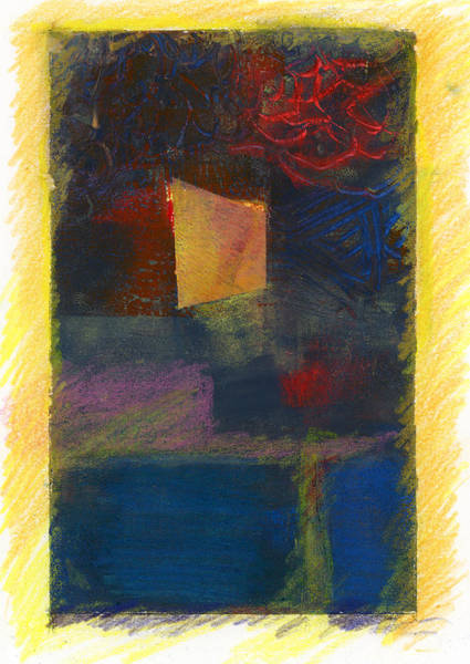 Mixed Media - The Window by Barbara Jacobs